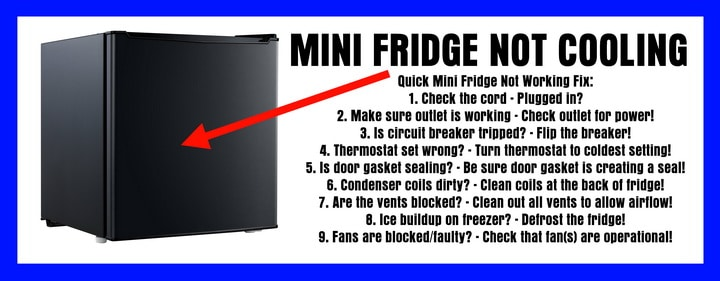 Mini Fridge Stopped Cooling - Refrigerator Not Cool
