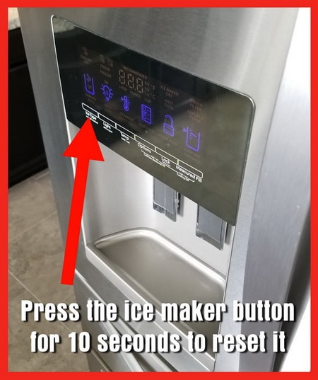 Reset Icemaker - Press Button On Panel