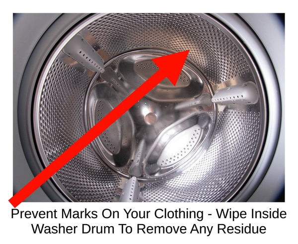Washer Stains Clothing - Wipe Inside Of Washer Drum