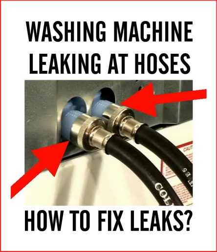How To Fix Leaking Washing Machine Hoses - 3 Areas To Check