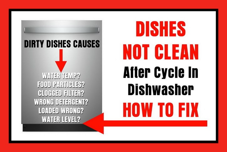 Dishes Not Clean After Washing In Dishwasher
