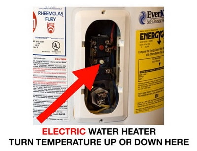 Water heater temperature electric controls