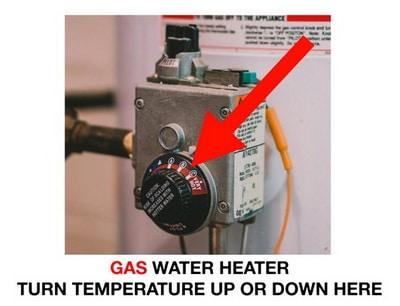 Water heater temperature gas controls