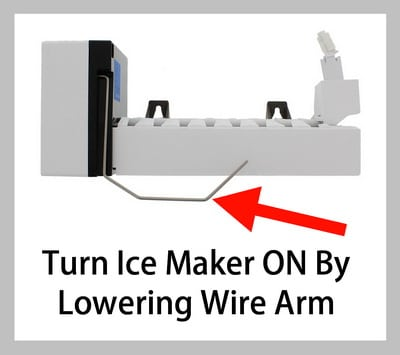 Turn Ice Maker ON - Lower Wire Arm