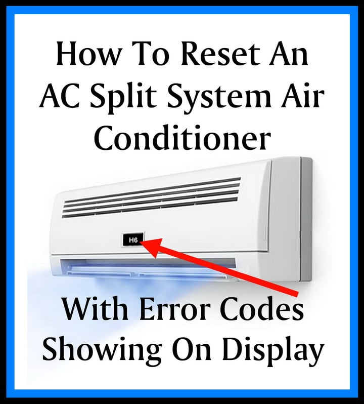 How To Reset AC Split System Air Conditioner AIRCON With
