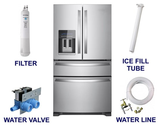 Parts for ice maker freezing up