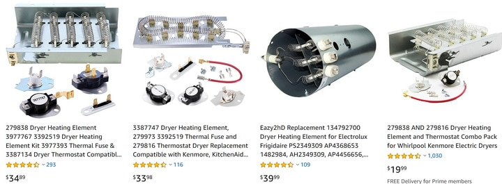 Whirlpool Dryer Heating Elements
