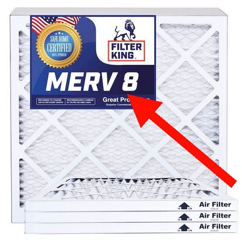 air filter with MERV rating