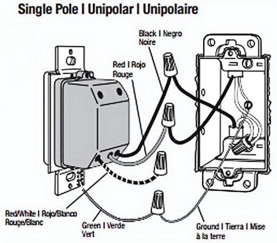 Dimmer switch wiring single pole