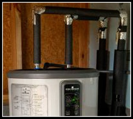 Add insulation to hot water lines and water heater
