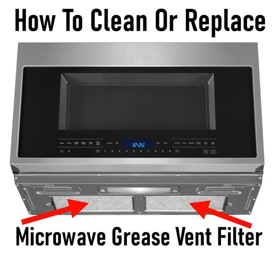 How To Clean Or Replace A Microwave Grease Vent Filter