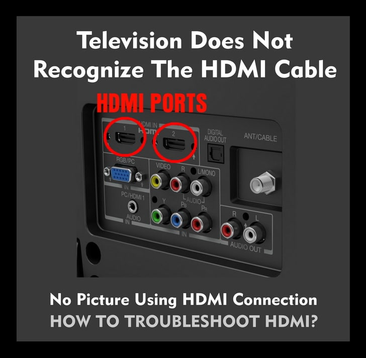 TV Does Not Recognize HDMI Video Cable