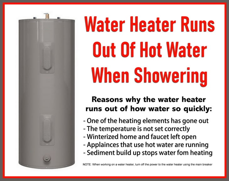 Water Heater Runs Out Of Hot Water When Showering