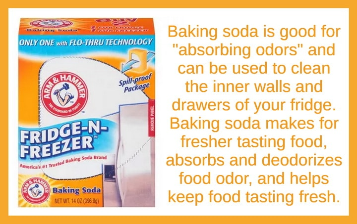 Use baking soda to remove refrigerator freezer odors