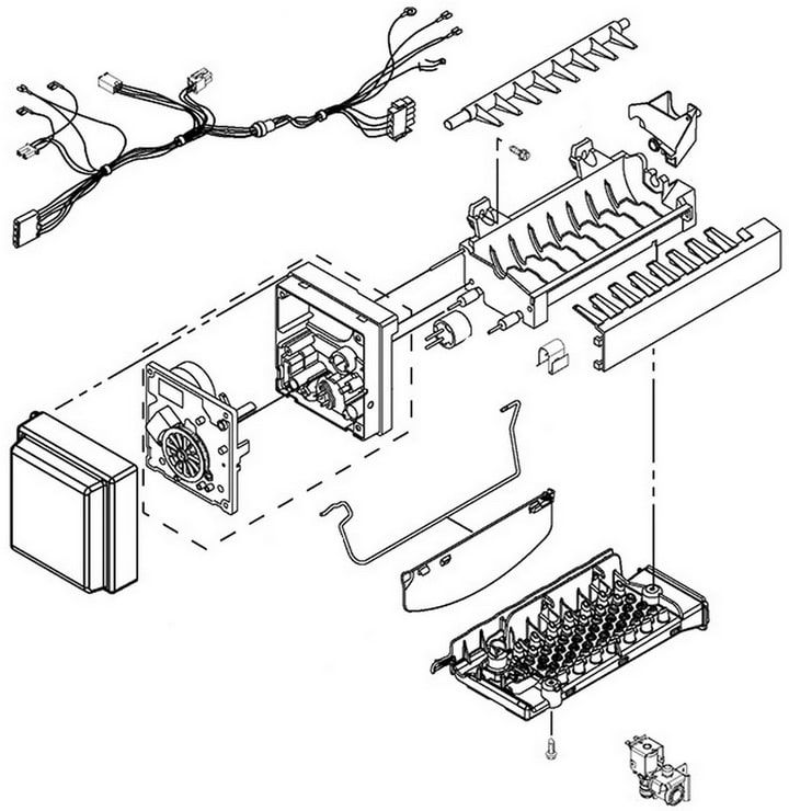 Whirlpool wrx735sdbm00 ice maker parts diagram