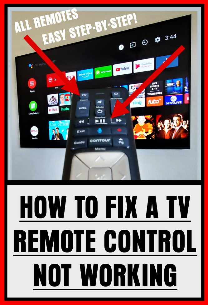 How To Fix A TV Remote Control Not Working