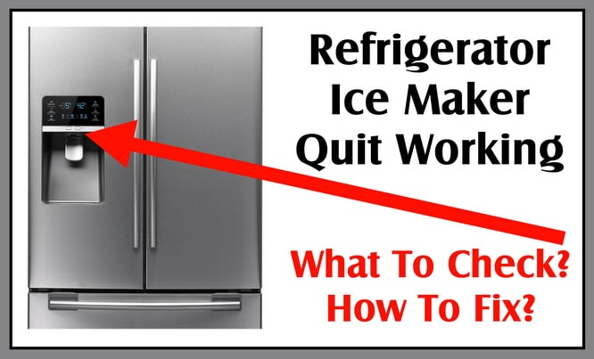 Refrigerator Ice Maker Quit Working - How To Fix Samsung RFG298HD
