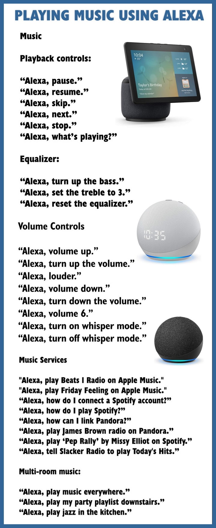 Amazon Alexa - How to play music and control volume