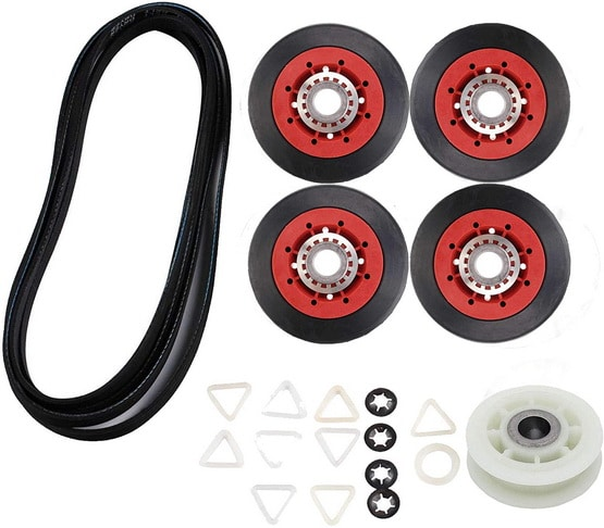 Dryer repair Kit - Replacement Compatible with Whirlpool Kenmore - Idler Pulley - Rollers - Belt