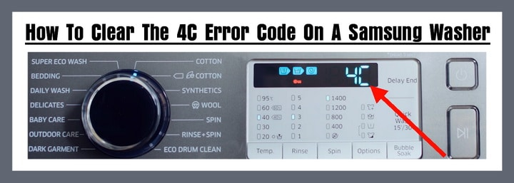 4C Error Code - Samsung Washer