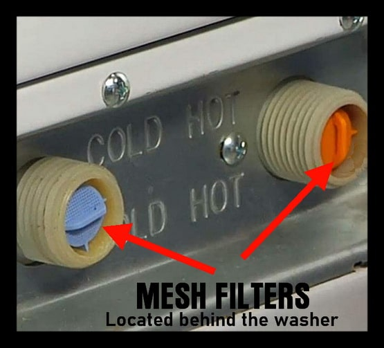 Mesh filter for a washing machine