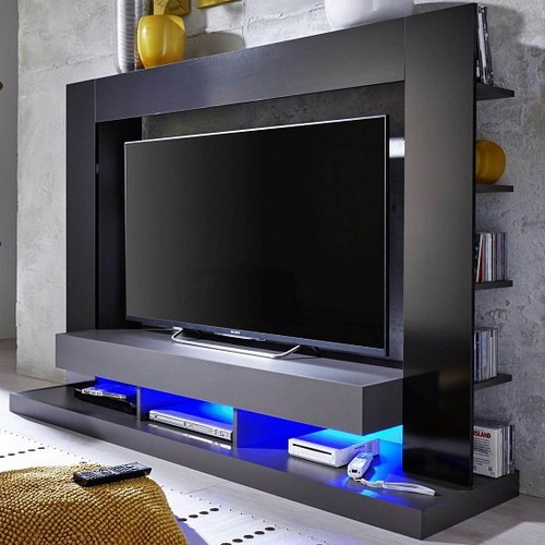 TV Stand Ideas with LED lighting