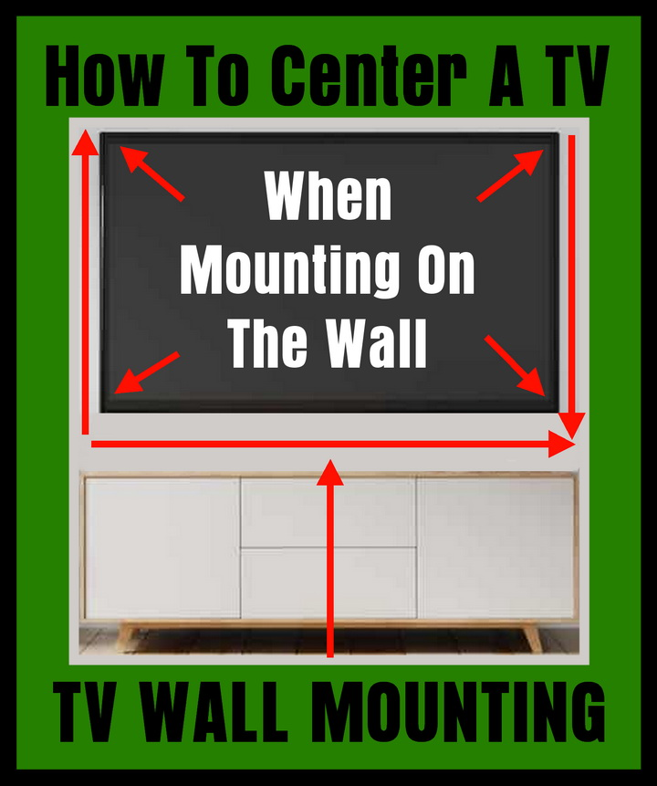 How To Center A TV When Mounting On The Wall