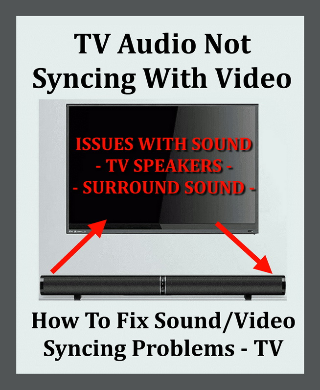 TV Audio Not Matching Video - Syncing Issues