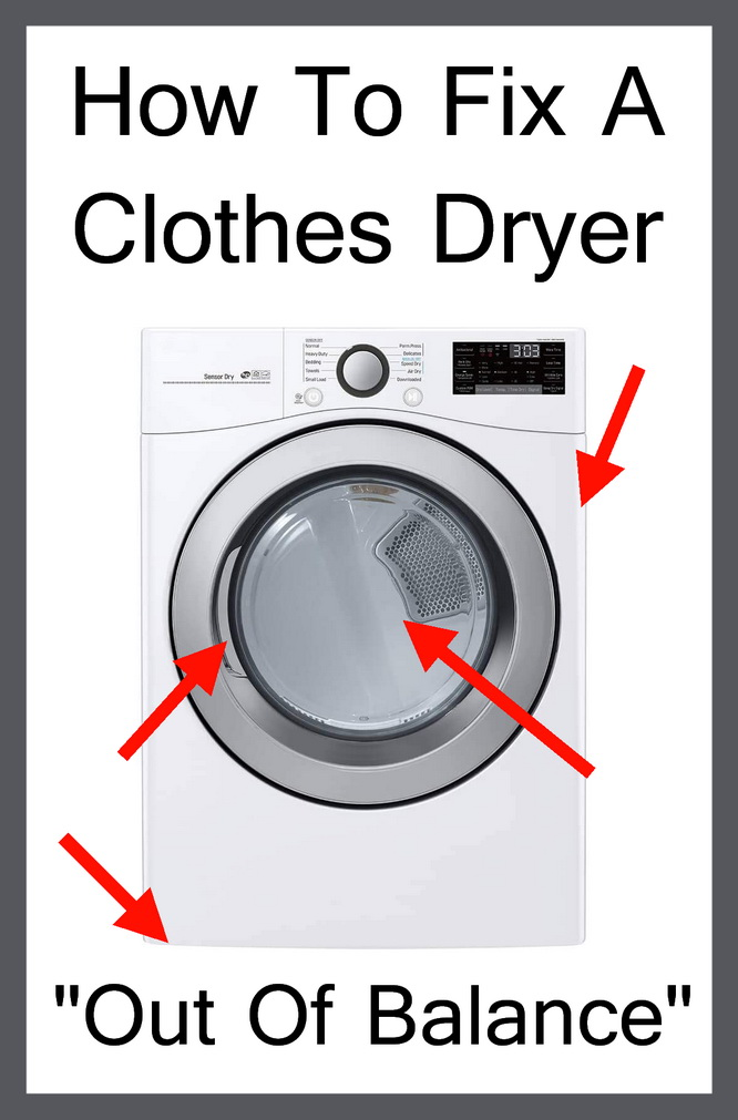 fix dryers with out of balance issues