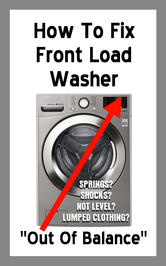 How To Fix Front Load Washer Out Of Balance
