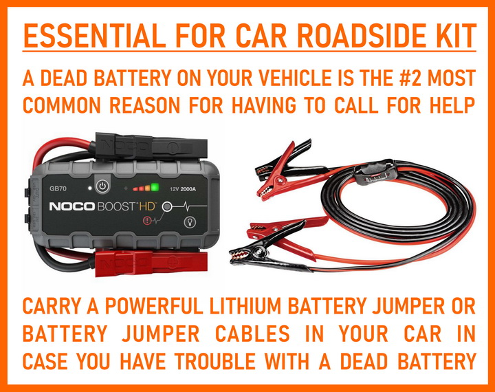Car battery essential jumpers