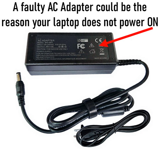 Computer AC adapter issues - No power