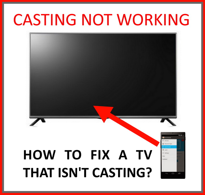 TV casting not working