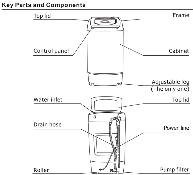 Comfee Washer Parts Components